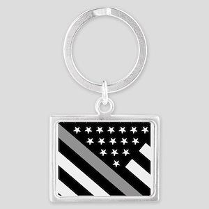 U.S. Flag: The Thin Grey Line Landscape Keychain