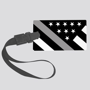 U.S. Flag: The Thin Grey Line Large Luggage Tag