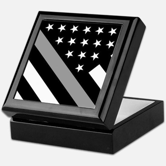 U.S. Flag: The Thin Grey Line Keepsake Box