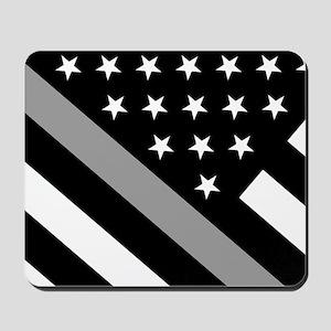 U.S. Flag: The Thin Grey Line Mousepad