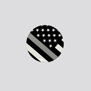 U.S. Flag: The Thin Grey Line Mini Button