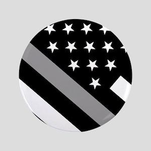 U.S. Flag: The Thin Grey Line Button