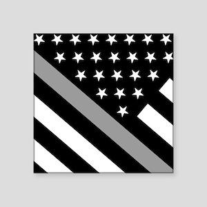 "U.S. Flag: The Thin Grey Li Square Sticker 3"" x 3"""
