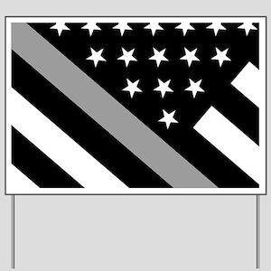 U.S. Flag: The Thin Grey Line Yard Sign