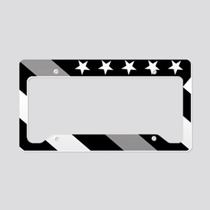 U.S. Flag: The Thin Grey Line License Plate Holder
