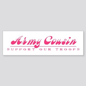 Army Cousin - Girly Style Bumper Sticker