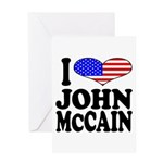 I Love John McCain Greeting Card
