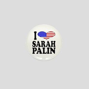 I Love Sarah Palin Mini Button
