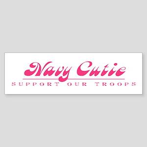 Navy Cutie - Girly Style Bumper Sticker