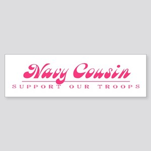 Navy Cousin - Girly Style Bumper Sticker