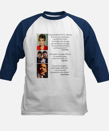 Quotes on Value of Life - Kids Baseball Jersey