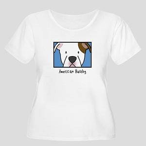 Anime American Bulldog Women's Plus Size Tshirt