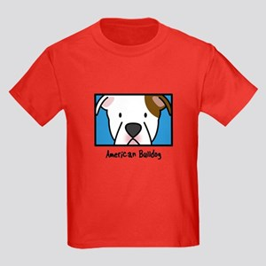 Anime American Bulldog Kids Dark T Shirt