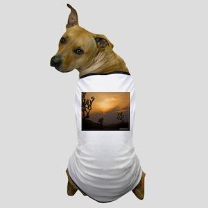 Sunset over Joshua Tree Natio Dog T-Shirt