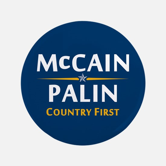 "Country First - McCain Palin 3.5"" Button"