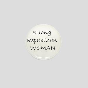 Strong Republican Woman Mini Button