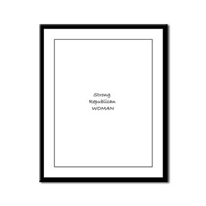 Strong Republican Woman Framed Panel Print