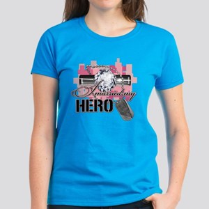 I Married My Hero Women's Dark T-Shirt