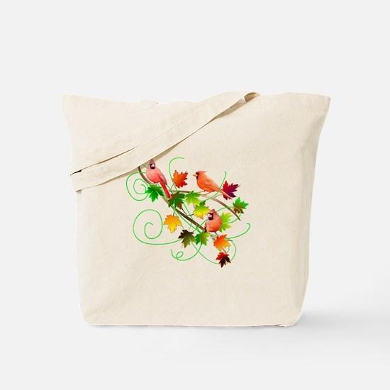 Three Cardinals Tote Bag