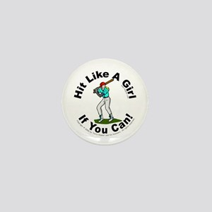 Hit/Girl (baseball) Mini Button