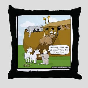 Unicorn Extinction Throw Pillow
