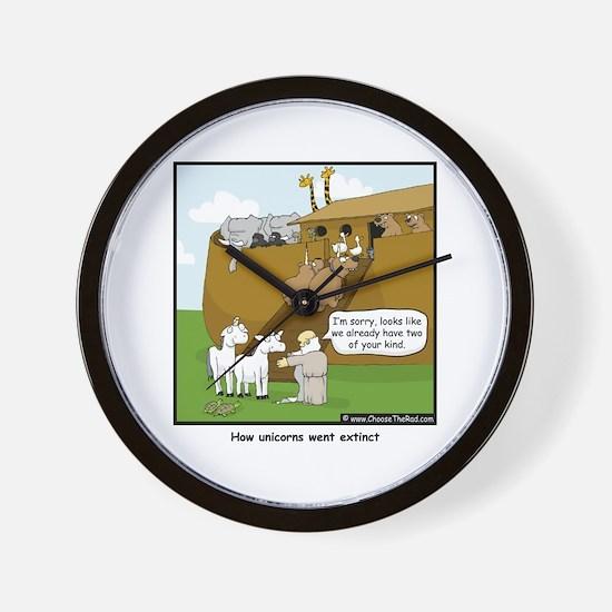 Unicorn Extinction Wall Clock