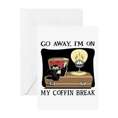 Coffin Break Greeting Card