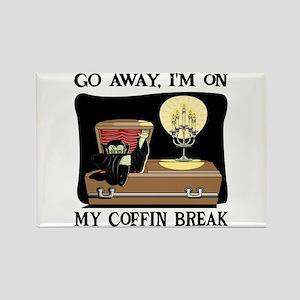 Coffin Break Rectangle Magnet