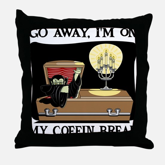 Coffin Break Throw Pillow