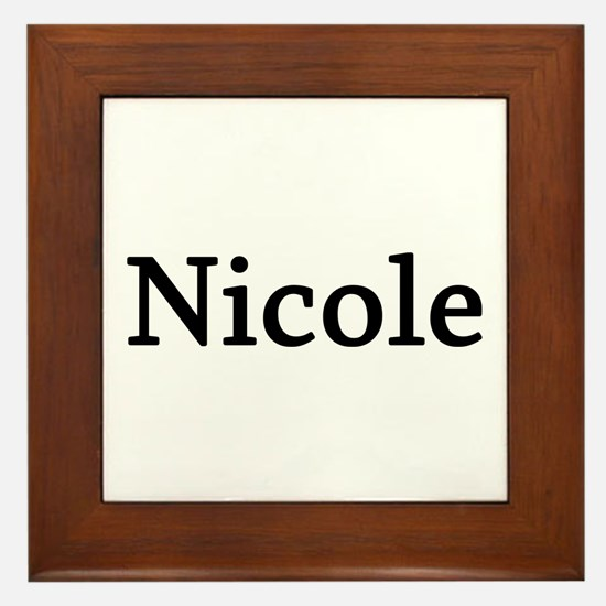 Nicole - Personalized Framed Tile