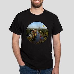 Balloon River Flight Dark T-Shirt