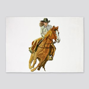 Rodeo - Cow Girl 5'x7'Area Rug