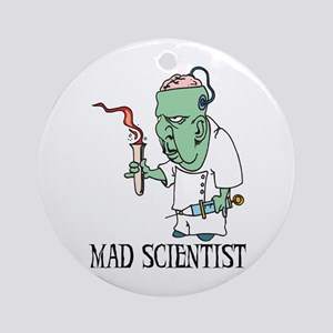 Mad Scientist Ornament (Round)