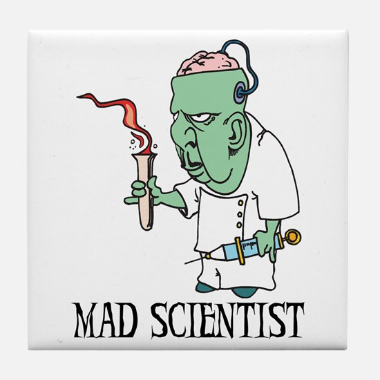 Mad Scientist Tile Coaster