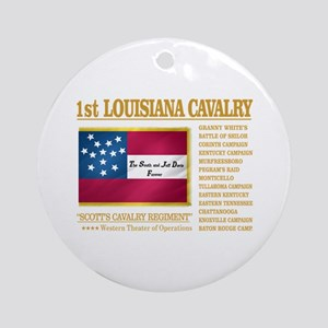 1st Louisiana Cavalry Round Ornament