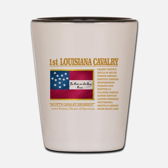 1st Louisiana Cavalry Shot Glass