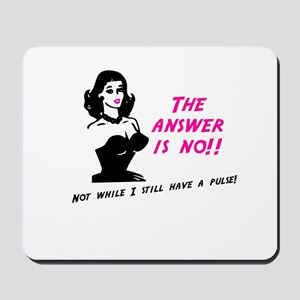 The answer is NO! Mousepad