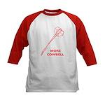 More Cowbell Kids Baseball Jersey