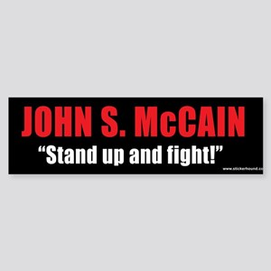 """McCAIN """"Stand up and fight!"""" Sticker (Bu"""