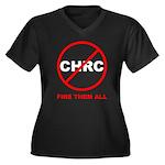 Fire Them All Women's Plus Size V-Neck Dark T-Shir