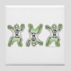 Triple Skeleton Tile Coaster