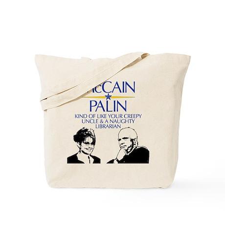 McCain/Palin Creepy Uncle/Na Tote Bag