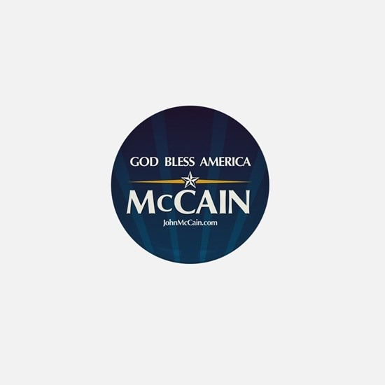 God Bless America McCain Mini Button