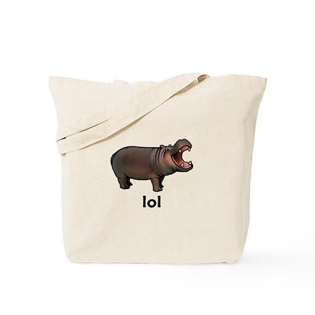 Lol hippo Tote Bag