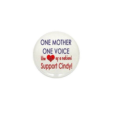 Support Cindy Sheehan Mini Button (10 pack)