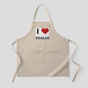 I Love Koalas BBQ Apron
