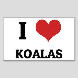 I Love Koalas Rectangle Sticker