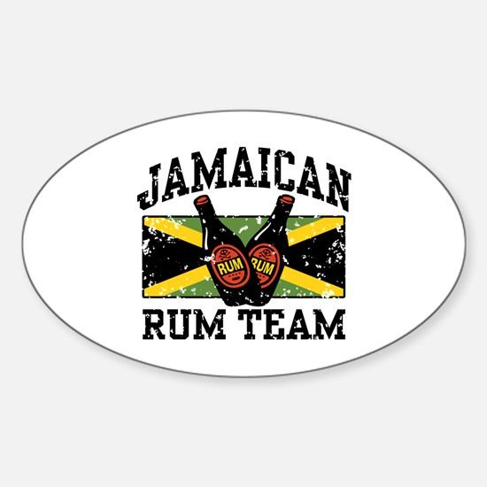 Jamaican Rum Team Oval Decal