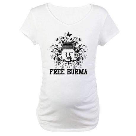 Buddha Free Burma Maternity T-Shirt