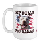 Pit Bulls for Sarah Large Mug